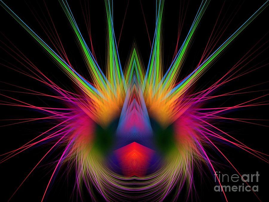 Colorful Digital Art - Soft And Stiff by Klara Acel