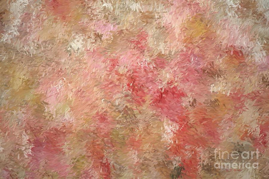Abstract Digital Art - Soft Autumn Colors by Deborah Benoit
