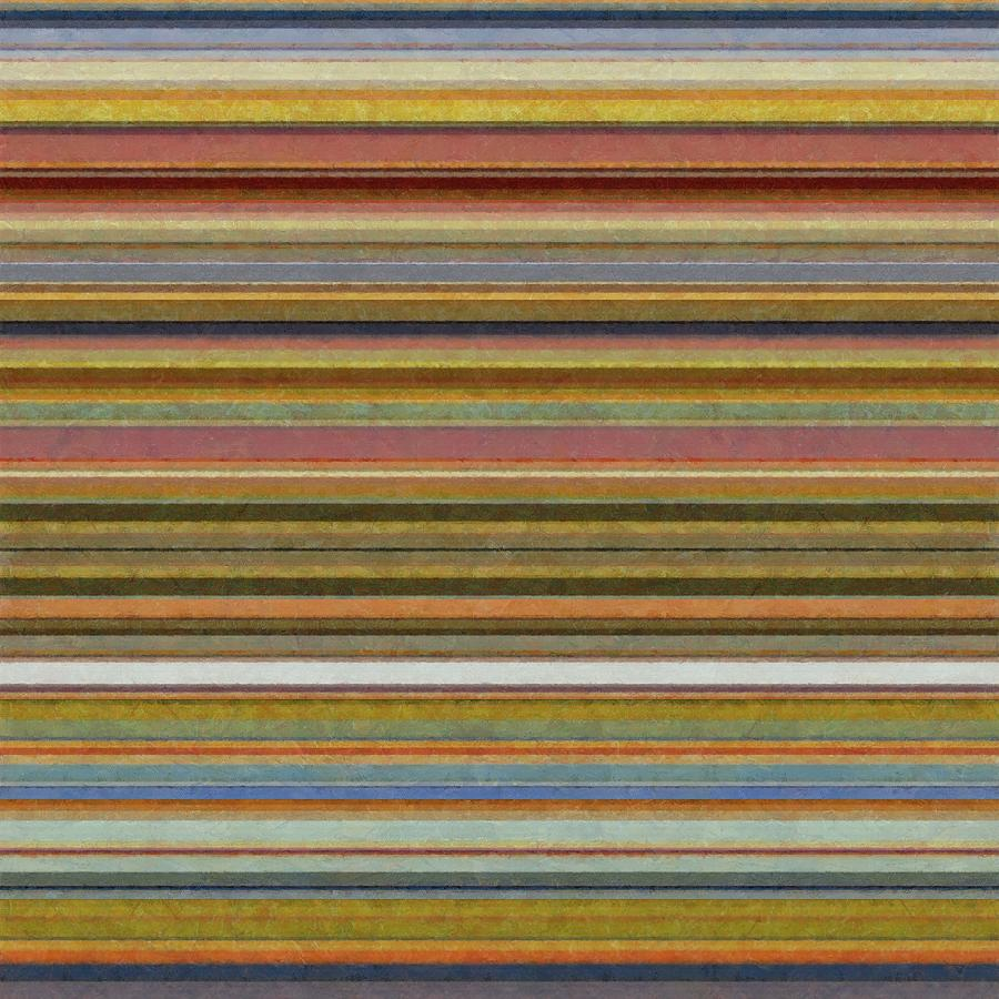 Textured Painting - Soft Stripes L by Michelle Calkins