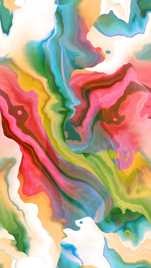 Abstract Digital Art - Soft Summer Days by Ruth Palmer