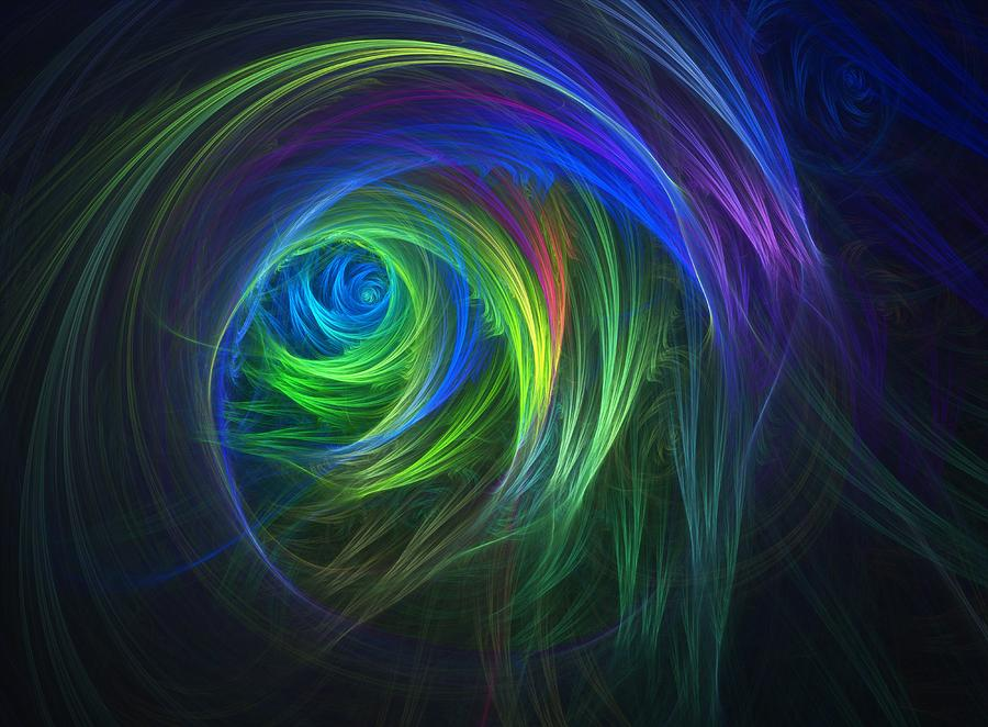Fractal Digital Art - Soft Swirls by Lyle Hatch