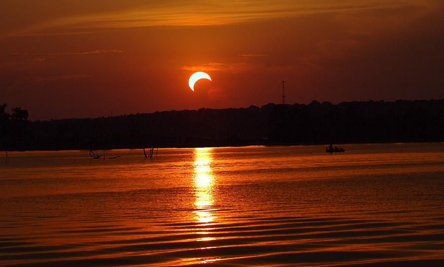 Solar Photograph - Solar Eclipse 2012 - Fort Worth Texas by Elizabeth Hart