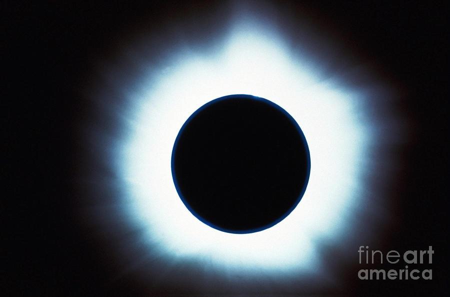 Horizontal Photograph - Solar Eclipse by Stocktrek Images