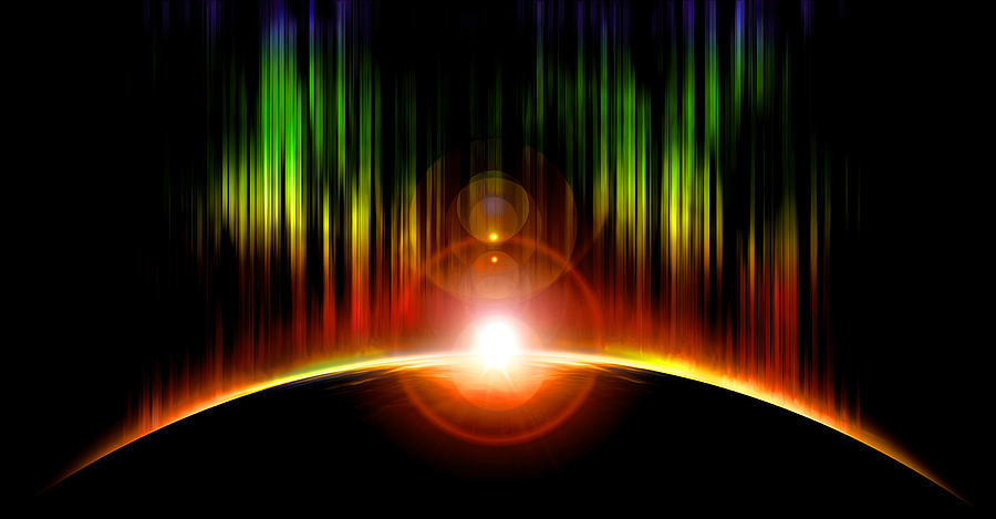 Abstract Digital Art - Solar Eclipse by Svetlana Sewell
