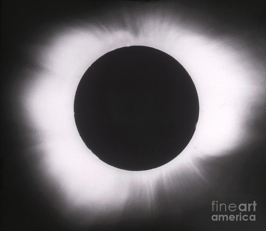 Solar Eclipse Photograph - Solar Eclipse With Outer Corona by Science Source