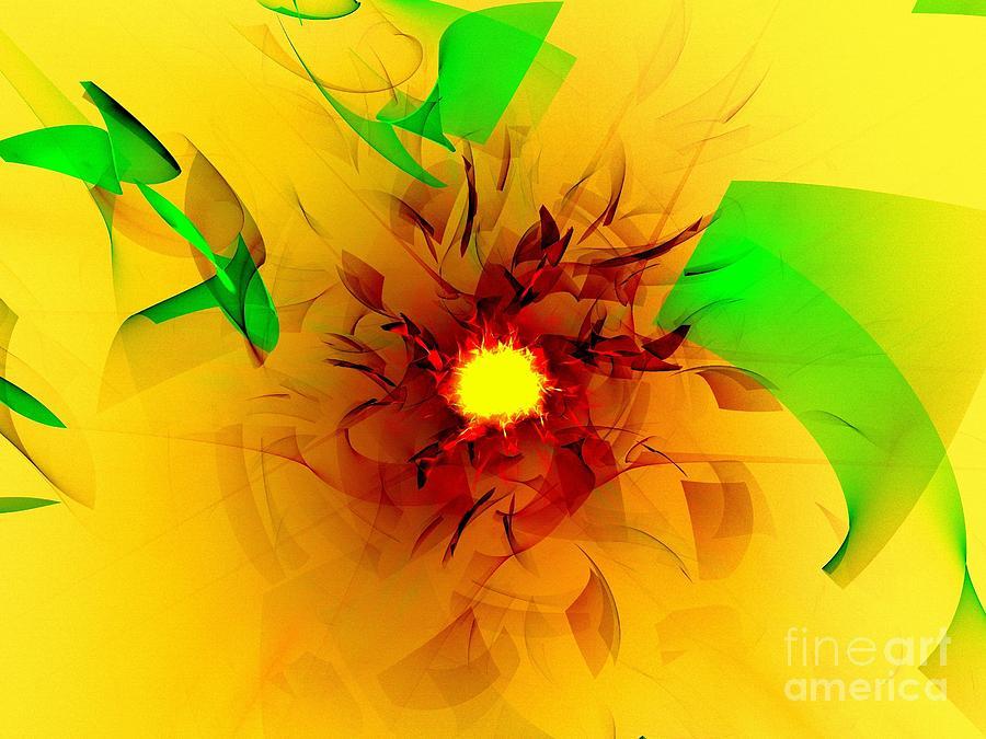 Solar Flare Digital Art - Solar Flare by Klara Acel