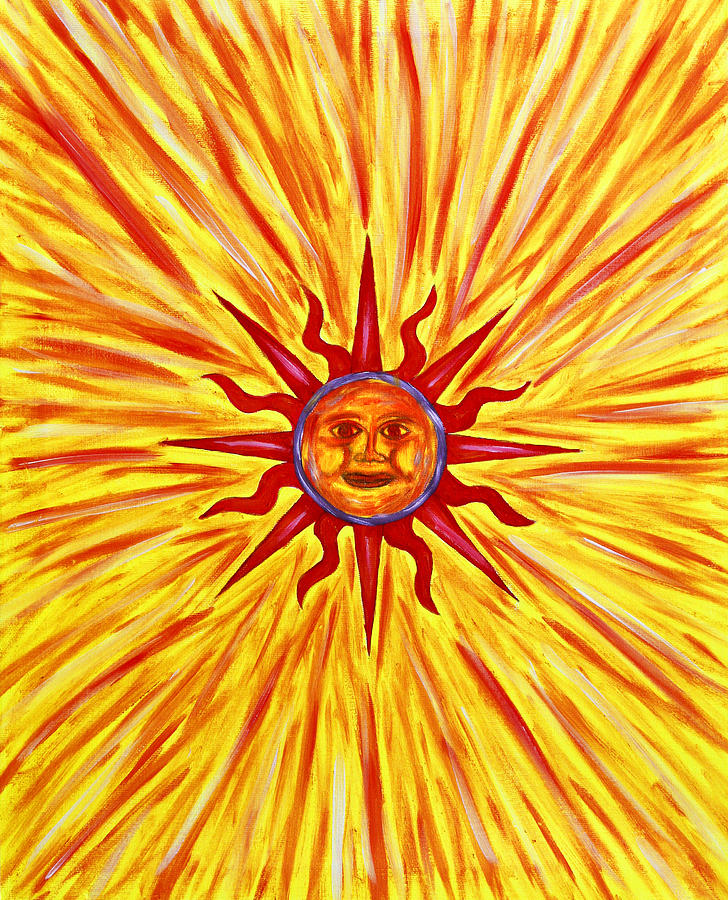 Oil Painting - Solar Flare by Tessa Hunt-Woodland