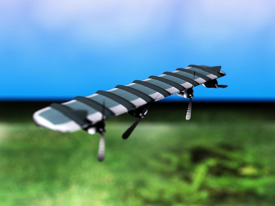 Aeroplane Photograph - Solar Powered Aeroplane, Artwork by Christian Darkin