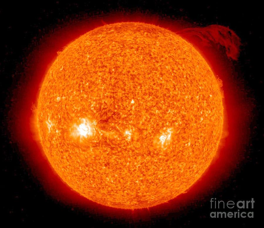 Stereo Photograph - Solar Prominence by Nasa