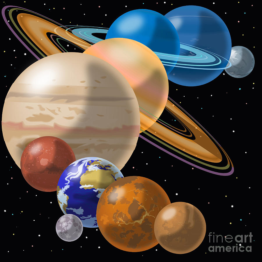solar system drawing - photo #39