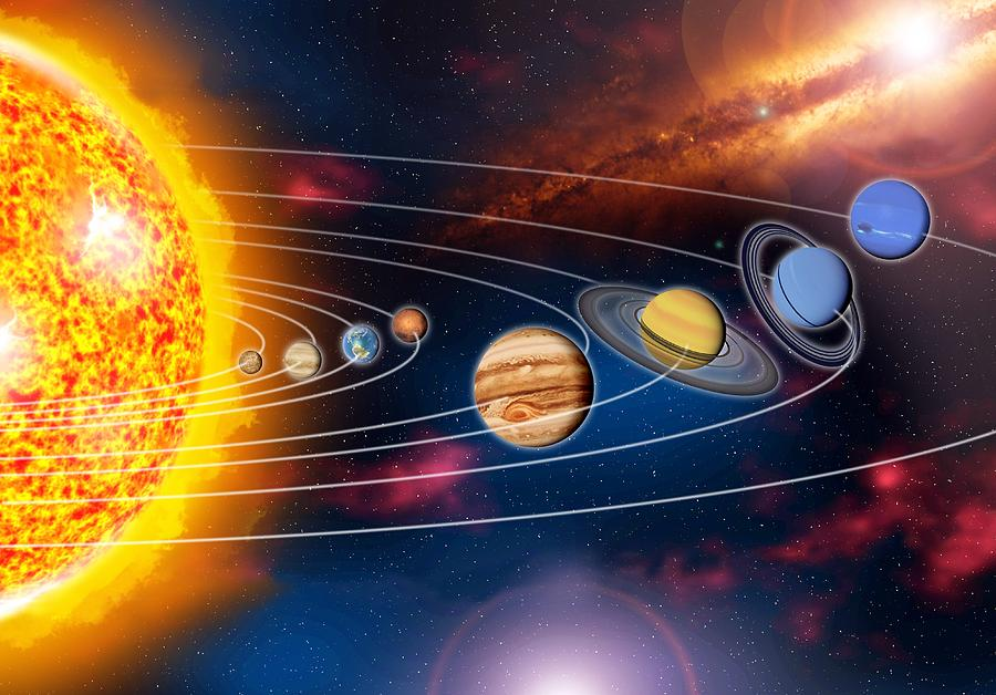 Earth Photograph - Solar System Planets by Jose Antonio PeÑas