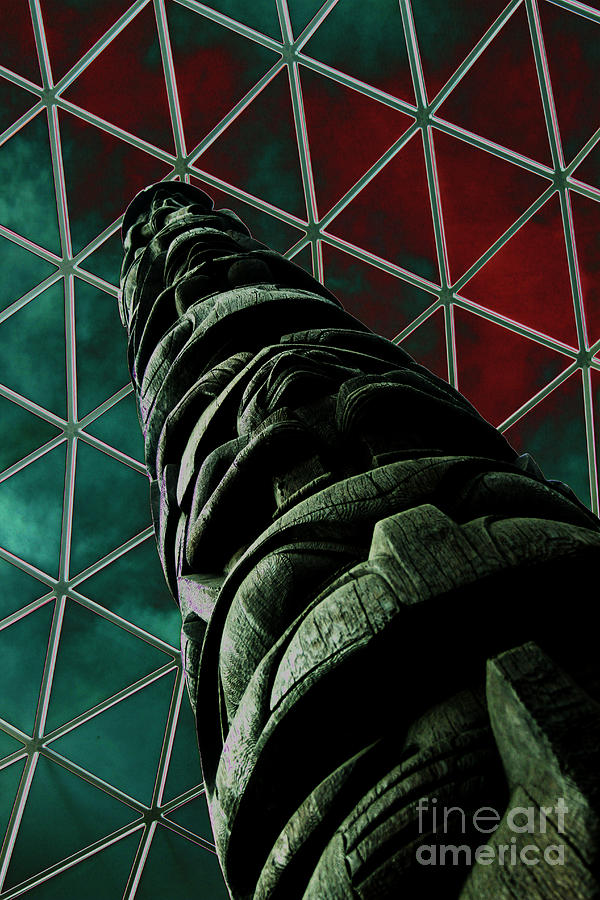 British Museum Photograph - Solarised Totem Pole by Urban Shooters