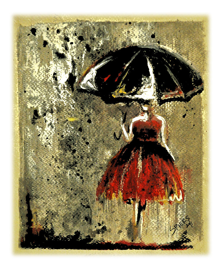 Umbrella Painting - Sold Red Sky At Night by Amanda  Sanford