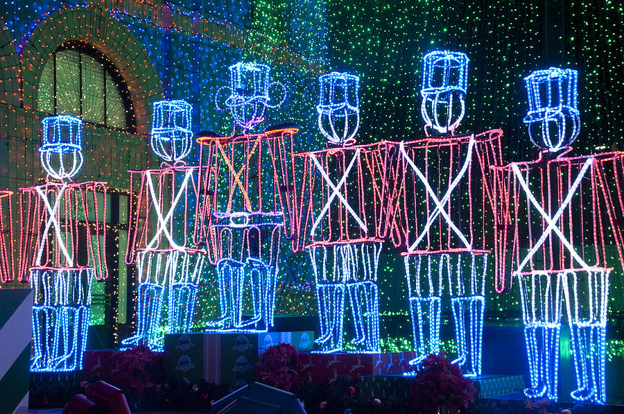 Christmas Lights Digital Art - Soldier Lights by Charles  Ridgway