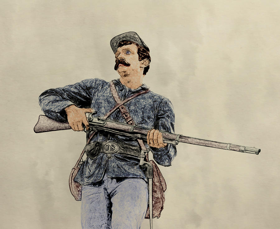 Army Of The Potomac Digital Art - Soldier Of Gettysburg by Randy Steele