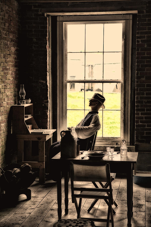 Old Photograph - Soldier Of Old Times by Karol Livote