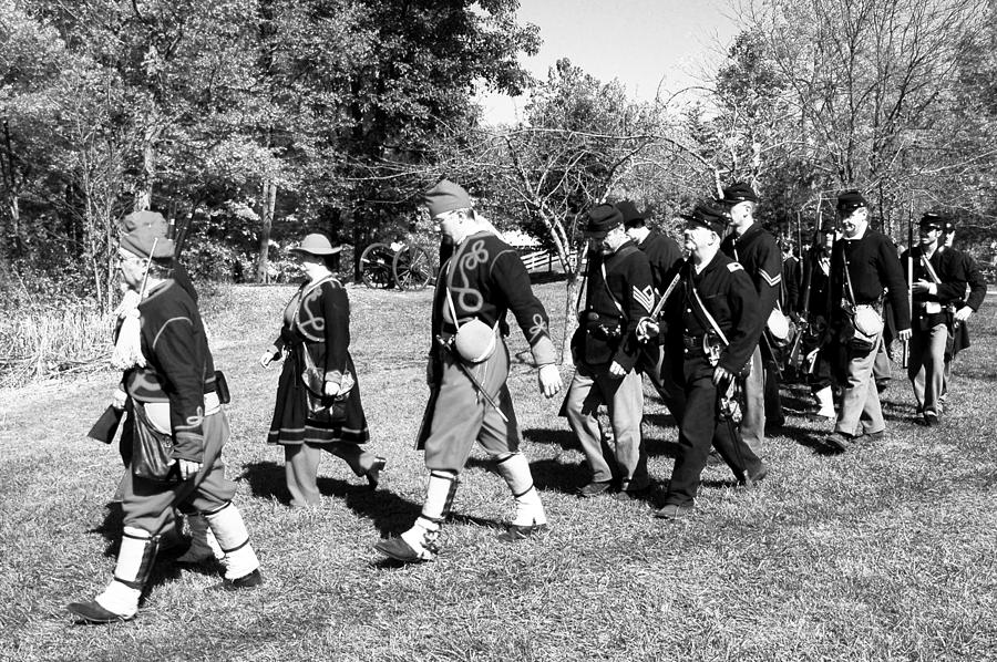 Usa Photograph - Soldiers March Black And White IIi by LeeAnn McLaneGoetz McLaneGoetzStudioLLCcom