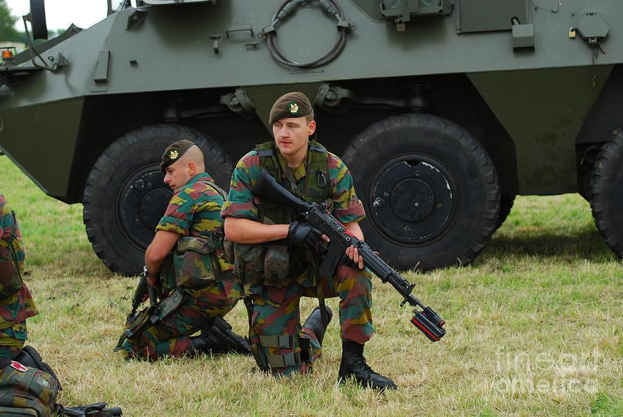 Belgium Photograph - Soldiers Of An Infantry Unit by Luc De Jaeger