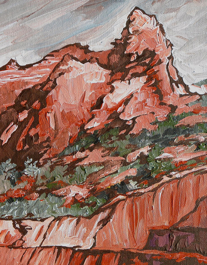 Sedona Painting - Soldiers Pass Trail by Sandy Tracey