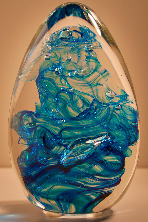 Glass Glass Art - Solid Glass Sculpture E10 by David Patterson
