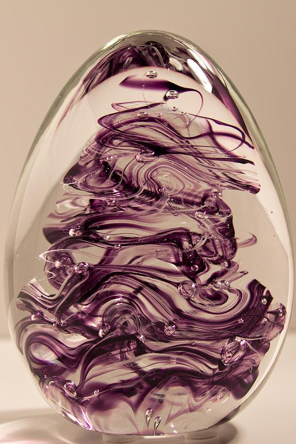 Glass Glass Art - Solid Glass Sculpture E8 by David Patterson
