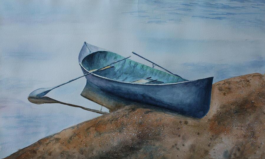 Canoe Painting - Solitude by Patsy Sharpe