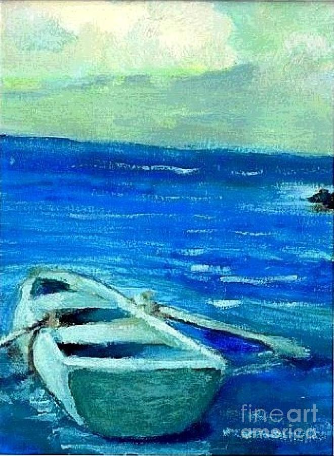 Boat Painting - Solo Rowboat by Jose Breaux