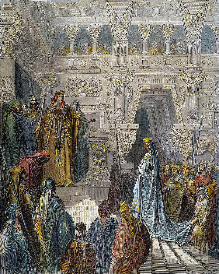 Dor� Photograph - Solomon Receiving Sheba by Granger