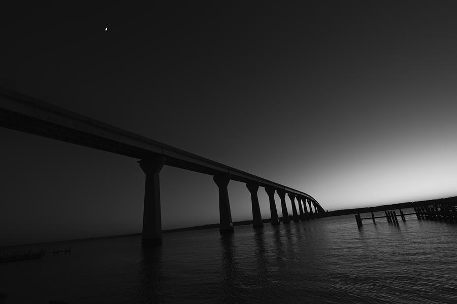 Black Photograph - Solomons Bridge At Sunset by Kelly Reber