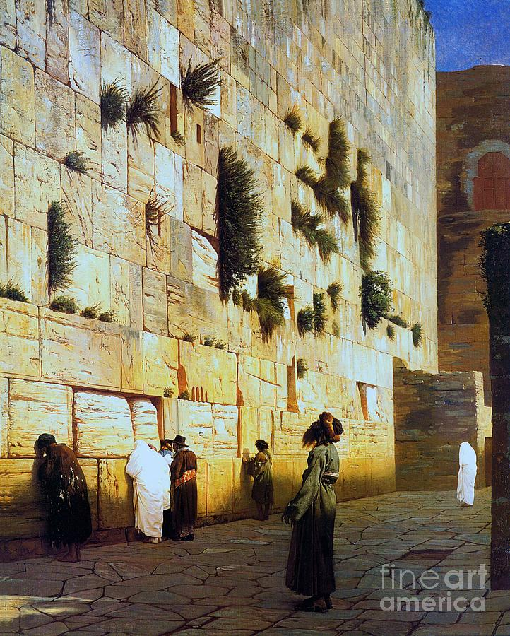 Pd Painting - Solomons Wall  Jerusalem by Pg Reproductions