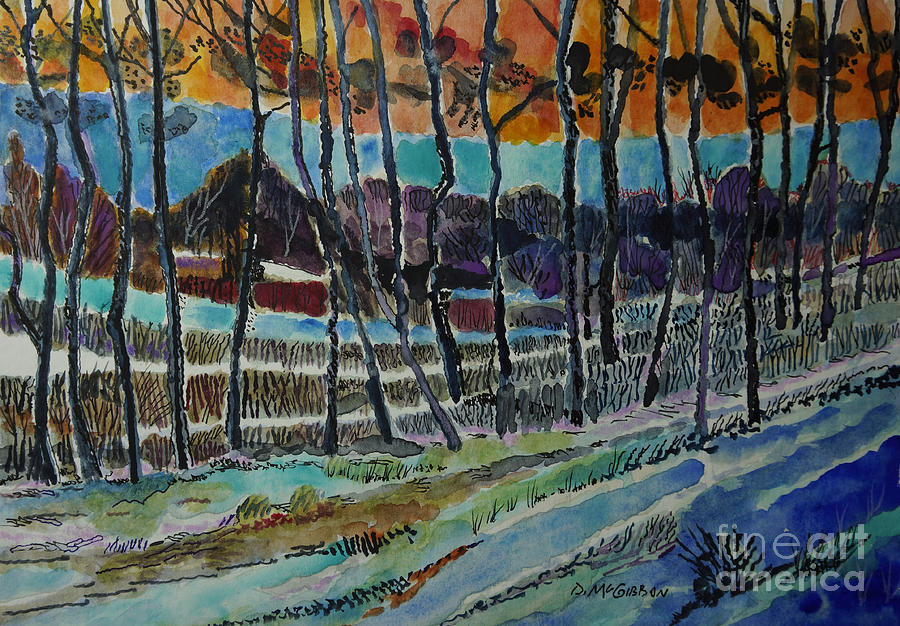 Somerset Pa Snow Scene 2 Painting by Donald McGibbon