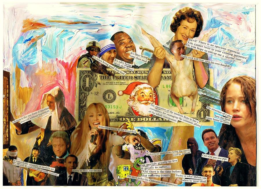 Romney Mixed Media - Something Nasty In The Woodshed by Frank Zabohonski