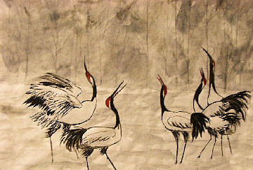 Birds Painting - Song Of Japan by Alethea McKee