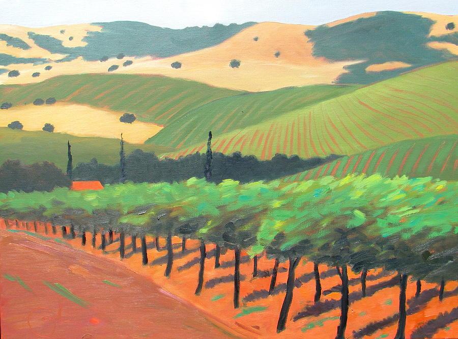 Sonoma Vinyard Painting