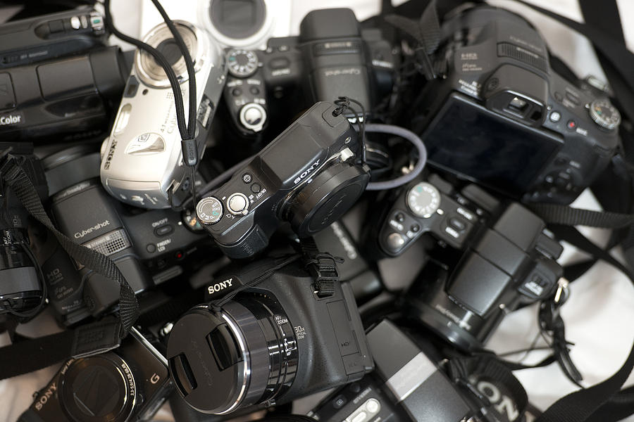 Camera Photograph - Sony Camera Stack by Michael Wilcox