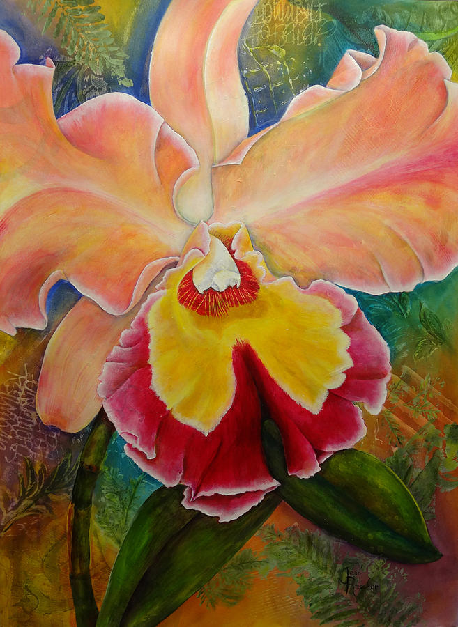 Orchid Painting - Sophistication 5 by Jean Rascher