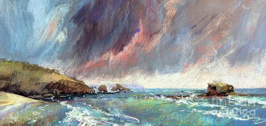 Pastel Landscape Painting - Sorrento Storm by Pamela Pretty
