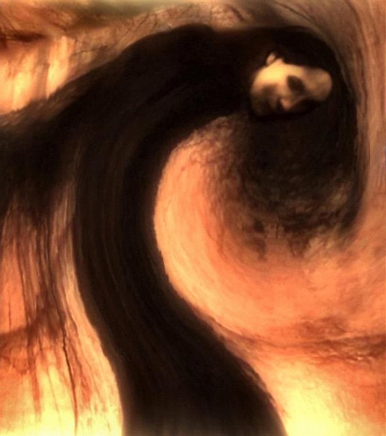 Woman Digital Art - Sorrow by Gun Legler