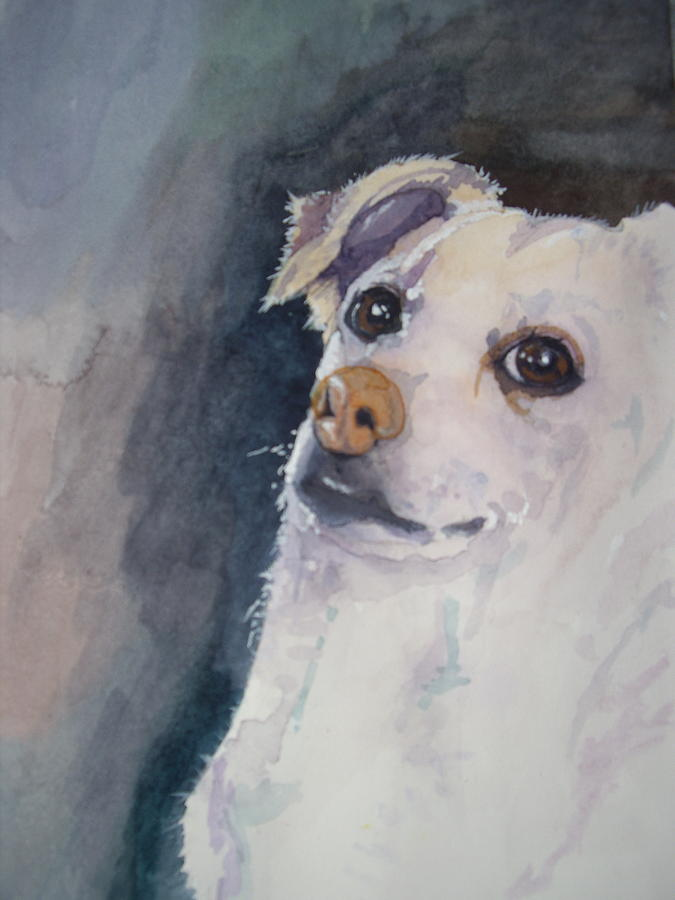 Dog Painting - Sorry by Victoria Glover