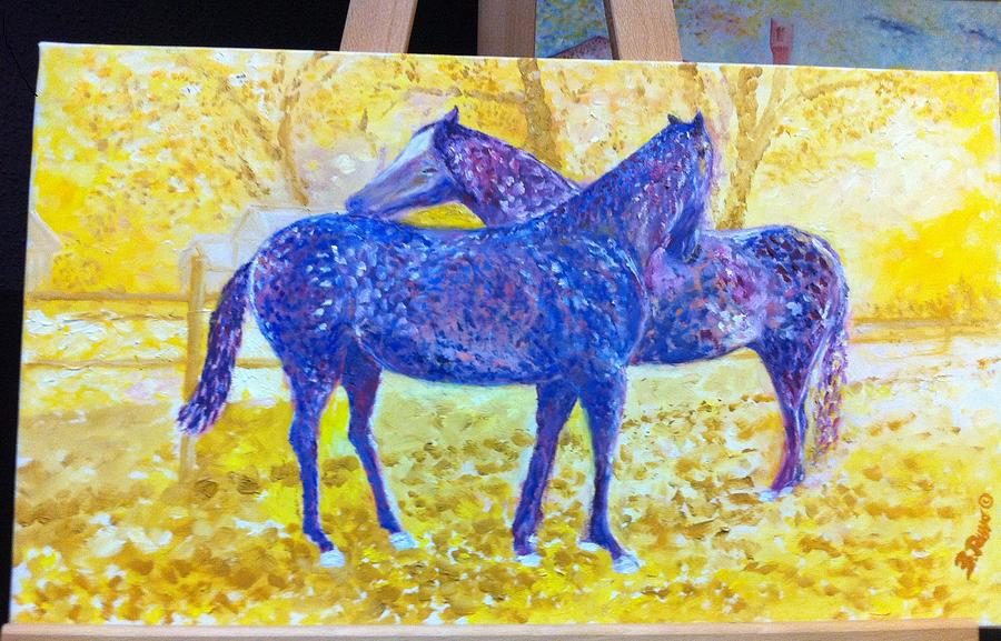 Horses Painting - Sotto Il Sole by B Russo