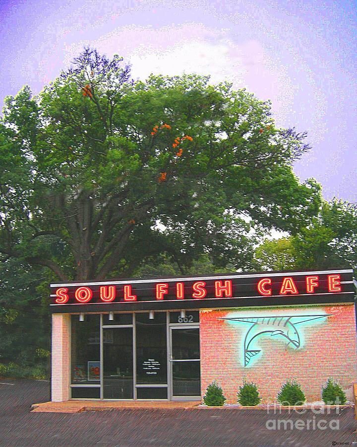 Restaurant Digital Art - Soul Fish by Lizi Beard-Ward