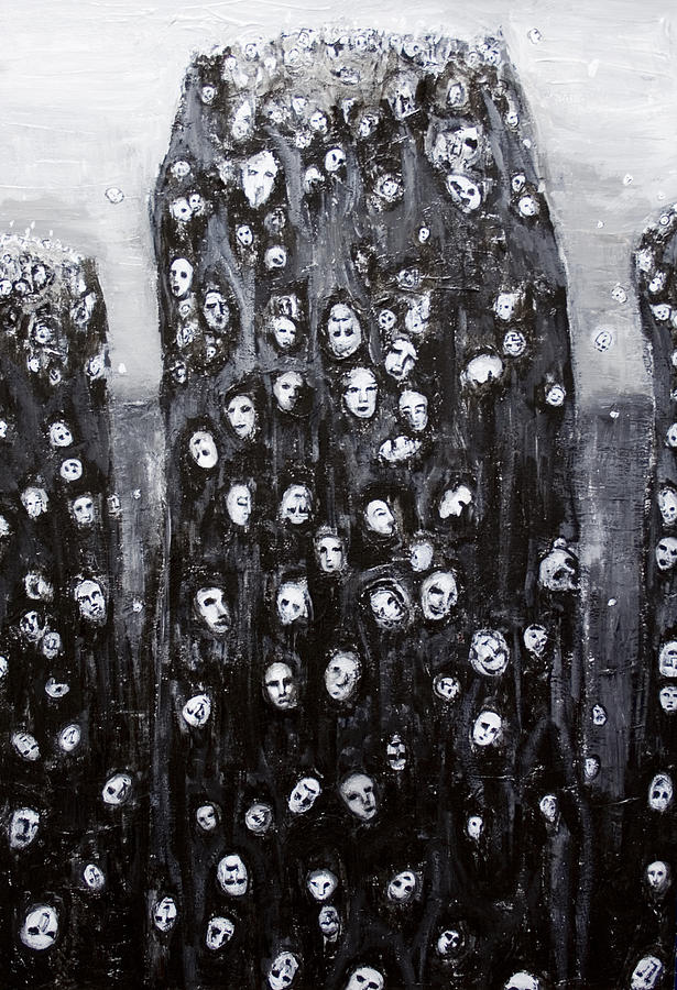 Religious Painting - Soul Groups by Kazuya Akimoto