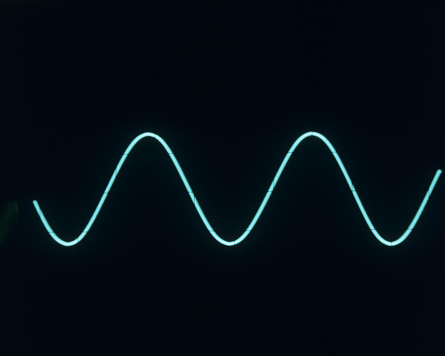 Sine Wave Photograph - Sound Wave by Andrew Lambert Photography