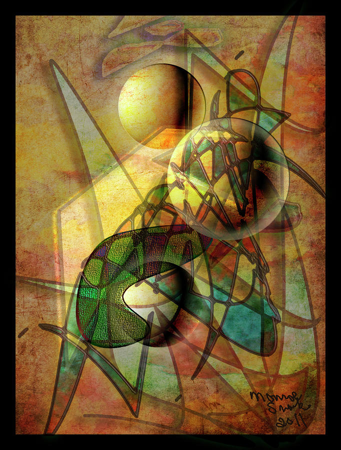 Abstract Digital Art - Sound Waves by Monroe Snook