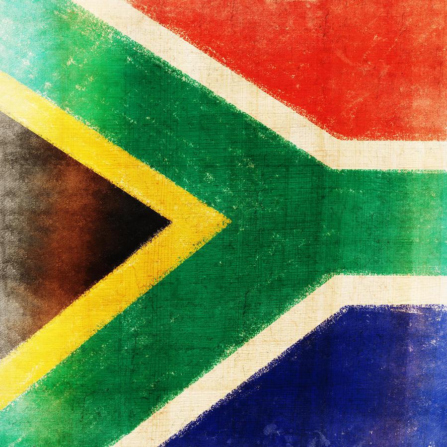 Abstract Photograph - South Africa Flag by Setsiri Silapasuwanchai