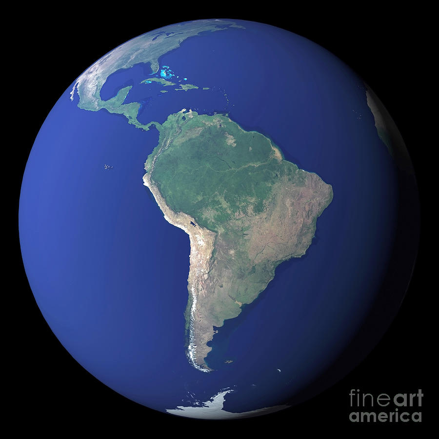 Color Image Photograph - South America by Stocktrek Images