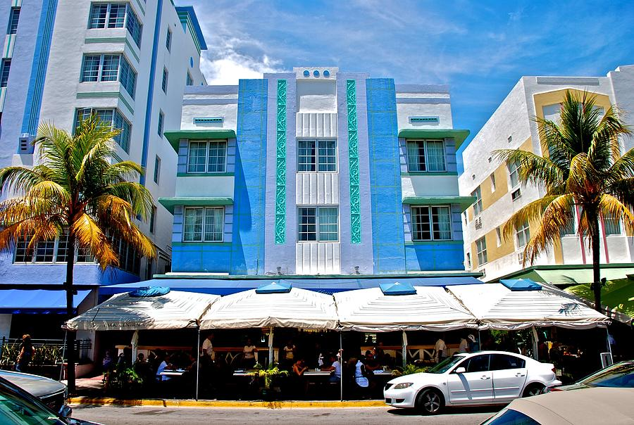 Miami Photograph - South Beach The Blue Section by Eric Tressler