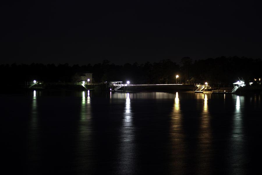Night Photograph - South Carolina Docks by Justin Brakeman