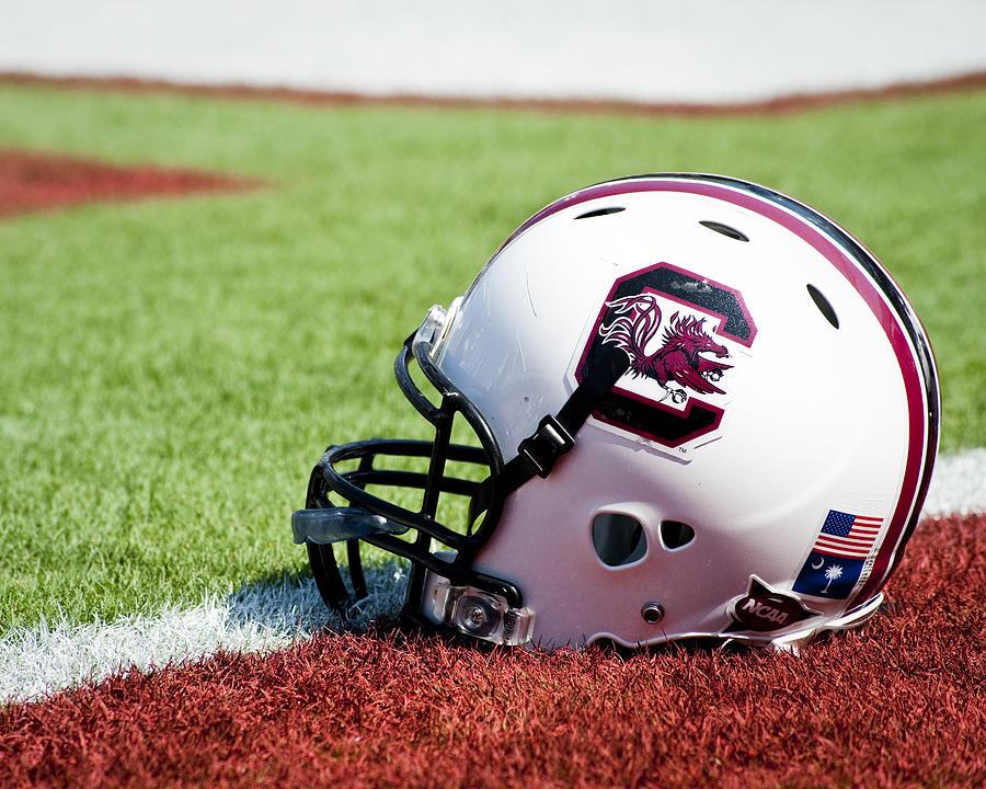 Gamecocks Photograph - South Carolina Helmet by Replay Photos