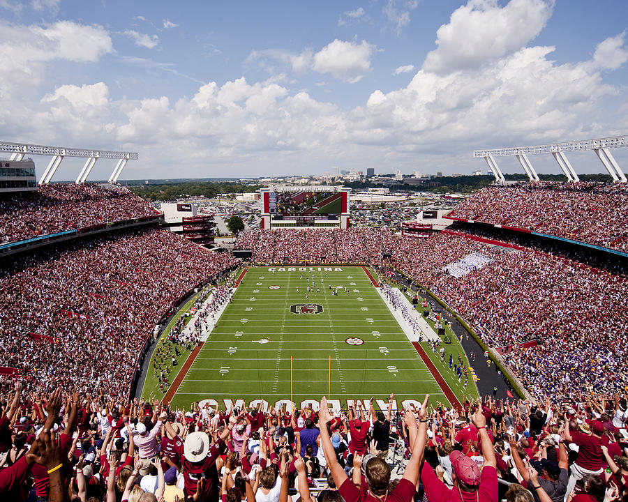 Gamecocks Photograph - South Carolina View From The Endzone At Williams Brice Stadium by Replay Photos
